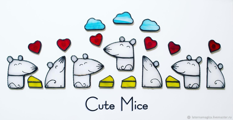 Тайная вечеря Магниты из стекла Милые Мышата Cute Mice #116, Магниты, Новосибирск,  Фото №1