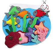 Куклы и игрушки ручной работы. Ярмарка Мастеров - ручная работа Развивающая тактильная игрушка из фетра с липучками, кармашками. Handmade.