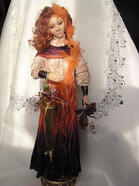 Коллекционные куклы ручной работы. Ярмарка Мастеров - ручная работа. Купить кукла  осень. Handmade. Авторская кукла, подарок