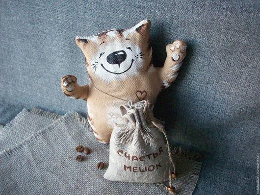 Ароматизированные куклы ручной работы. Ярмарка Мастеров - ручная работа. Купить Счастья мешок!!! Кофейный котик с ароматным мешочком.... Handmade.