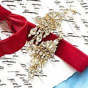 Свадебный салон ручной работы. Ярмарка Мастеров - ручная работа Свадебные серьги, серьги в винтажном стиле, серьги со стразами. Handmade.