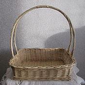 Для дома и интерьера handmade. Livemaster - original item Rectangular basket with high handle. Handmade.