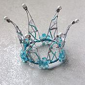 Работы для детей, ручной работы. Ярмарка Мастеров - ручная работа Хрустально-бирюзовая корона. Handmade.