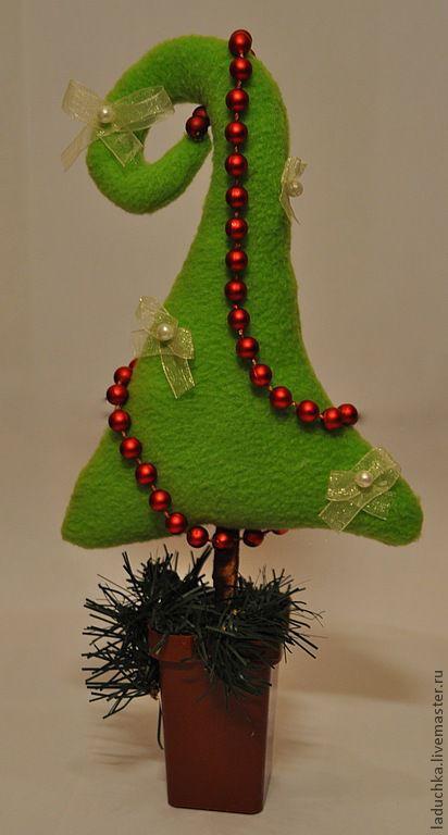 Новый год 2017 ручной работы. Ярмарка Мастеров - ручная работа. Купить елочка текстильная новогодняя. Handmade. Зеленый, подарок, рождество