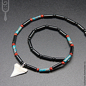 Украшения handmade. Livemaster - original item men`s jewelry chernomor with a shark tooth, art.46. Handmade.