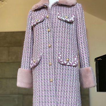 Одежда ручной работы. Ярмарка Мастеров - ручная работа Пальто с мехом Норки. Handmade.