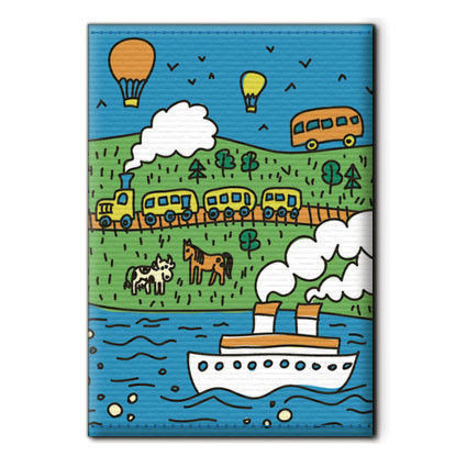 Covers handmade. Livemaster - handmade. Buy Cover on the passport 'Travel'.Passport cover, bright accessory