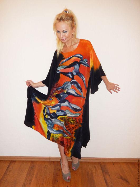 Большие размеры ручной работы. Ярмарка Мастеров - ручная работа. Купить платье- Тайна Века. Handmade. Оранжевый, хендмейд, подарок