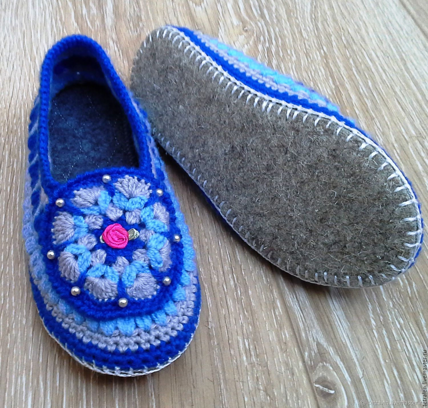 2955bbd8bff1be Online shopping on · Handmade Shoes handmade. Order Slippers crochet  Valentine. Knitted stuff from Svetlana. Livemaster.