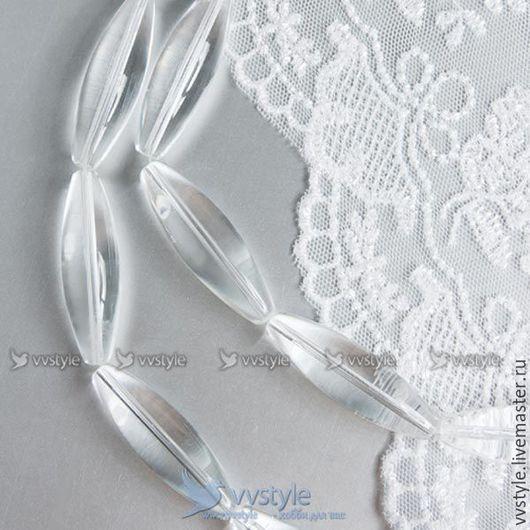 Для украшений ручной работы. Ярмарка Мастеров - ручная работа. Купить Бусины 10шт  стеклянные Вытянутые Кристальные 12х40мм. (b-557755w). Handmade.