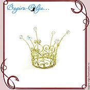 """Свадебный салон ручной работы. Ярмарка Мастеров - ручная работа корона """"Золотая принцесса"""". Handmade."""