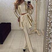 Одежда handmade. Livemaster - original item Knitted suit, three-piece.. Handmade.