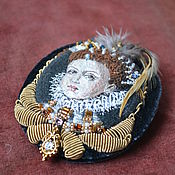 Brooches handmade. Livemaster - original item Embroidered brooch