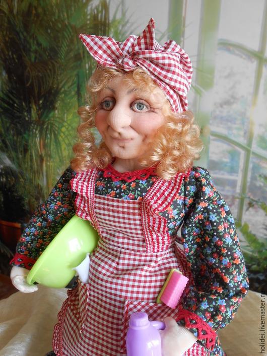 Коллекционные куклы ручной работы. Ярмарка Мастеров - ручная работа. Купить Хозяюшка  (текстильная кукла). Handmade. Разноцветный, кукла текстильная
