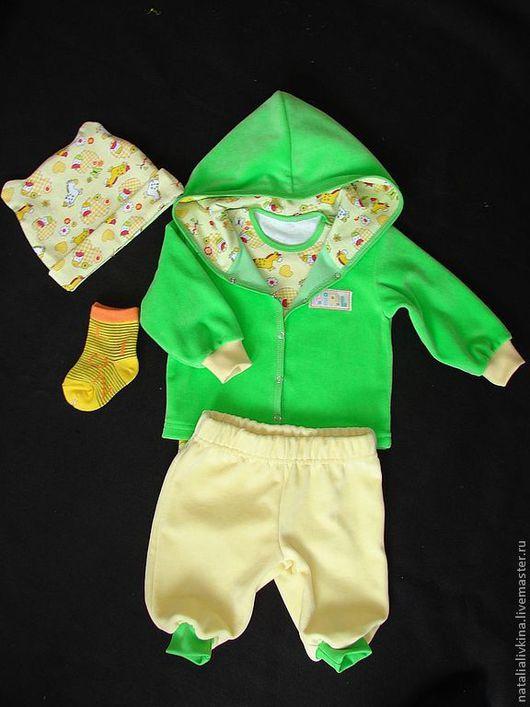 """Одежда для девочек, ручной работы. Ярмарка Мастеров - ручная работа. Купить Комплект для малышки """"Лошадка"""". Handmade. Ярко-зелёный"""