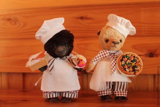 Мишки Тедди ручной работы. Ярмарка Мастеров - ручная работа. Купить Джании и Джованни - братья-пекари. Handmade. Коричневый