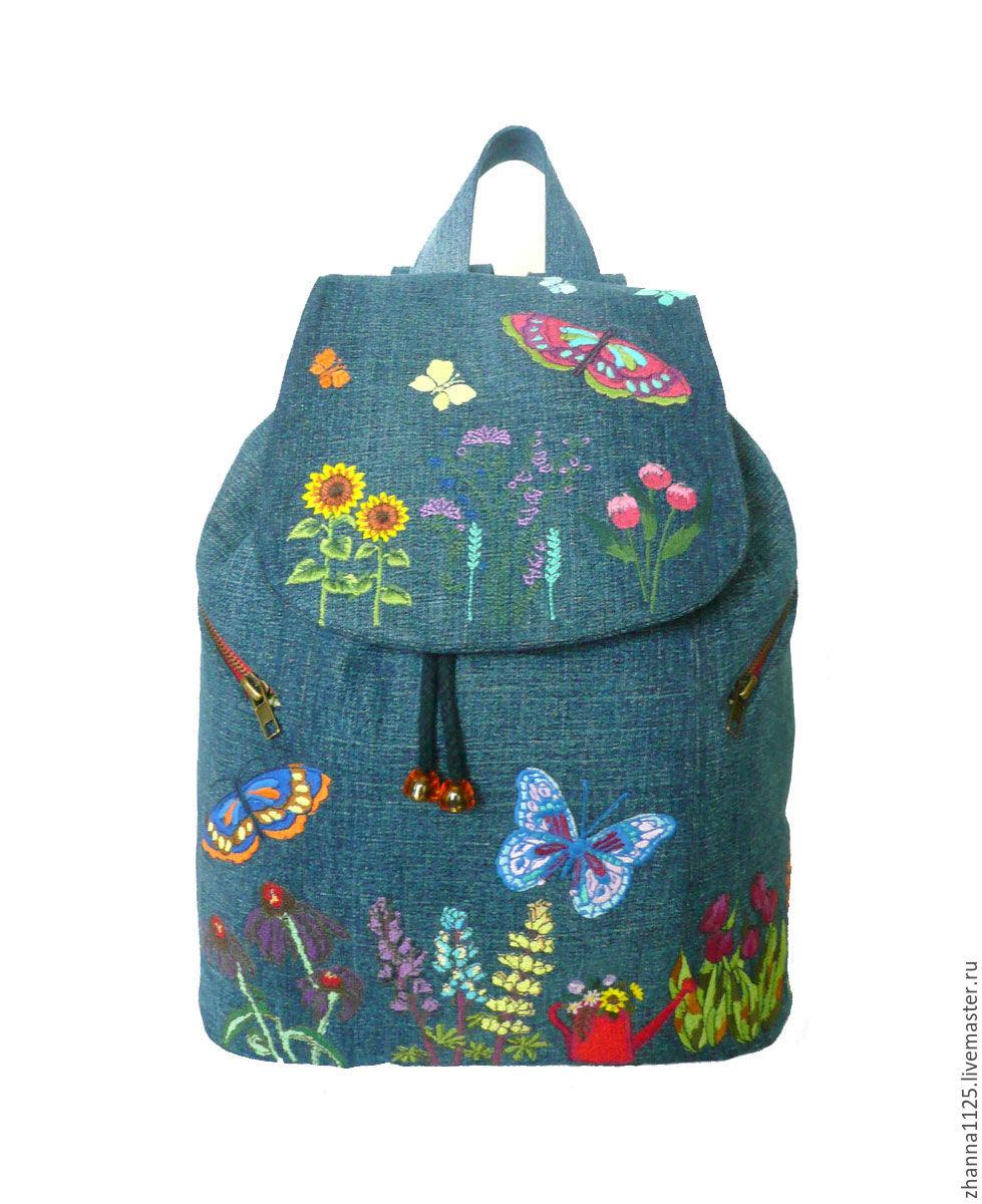 411Детские рюкзаки с вышивкой
