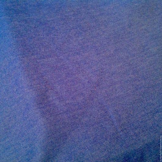 Шитье ручной работы. Ярмарка Мастеров - ручная работа. Купить Ткань джинсовая синяя.. Handmade. Синий, Ткань джинсовая
