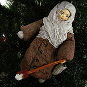 Куклы и игрушки ручной работы. Ярмарка Мастеров - ручная работа Стешенька - ватная елочная игрушка. Handmade.