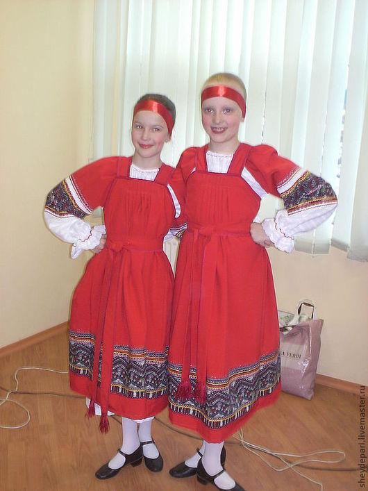 """Одежда ручной работы. Ярмарка Мастеров - ручная работа. Купить детский танцевальный костюм """"Русский сарафан"""". Handmade. народные традиции"""