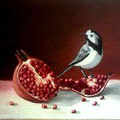 Картины и панно handmade. Livemaster - original item Still life with a bird. Handmade.