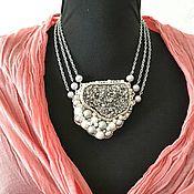 Украшения handmade. Livemaster - original item Necklace embroidered with beads
