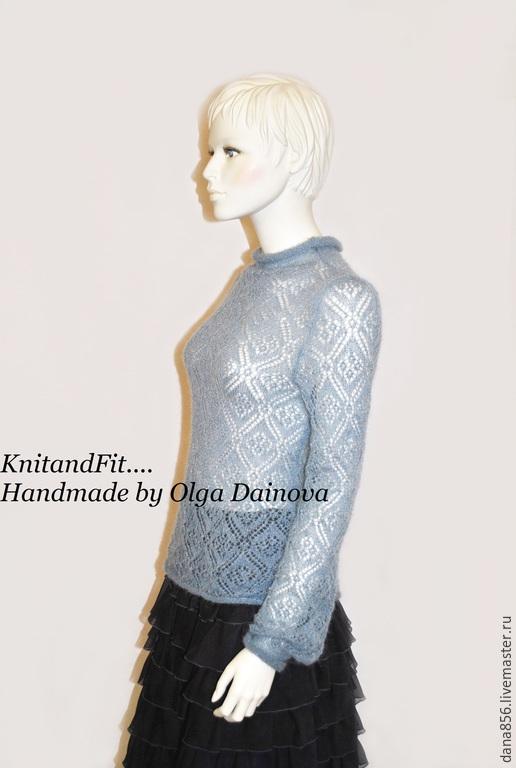 Ажурный женский свитер вязаный доставка