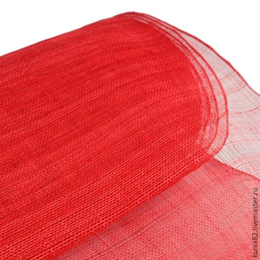 Синамей  для изготовления шляп цвет КРАСНЫЙ полуфабрикат для изготовления шляп и головных уборов. Анна Андриенко. Ярмарка Мастеров.