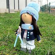 Куклы и игрушки ручной работы. Ярмарка Мастеров - ручная работа Кукла интерьерная. Интерьерная кукла. Девочка с розовым зайчиком. Handmade.