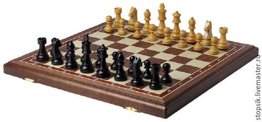 Настольные игры ручной работы. Ярмарка Мастеров - ручная работа. Купить Шахматы складные Стандарт Люкс (американский орех, клетка 5 см) 33616. Handmade.
