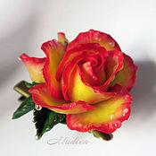 Украшения ручной работы. Ярмарка Мастеров - ручная работа ...Нектар...брошь-заколка с розой. Handmade.
