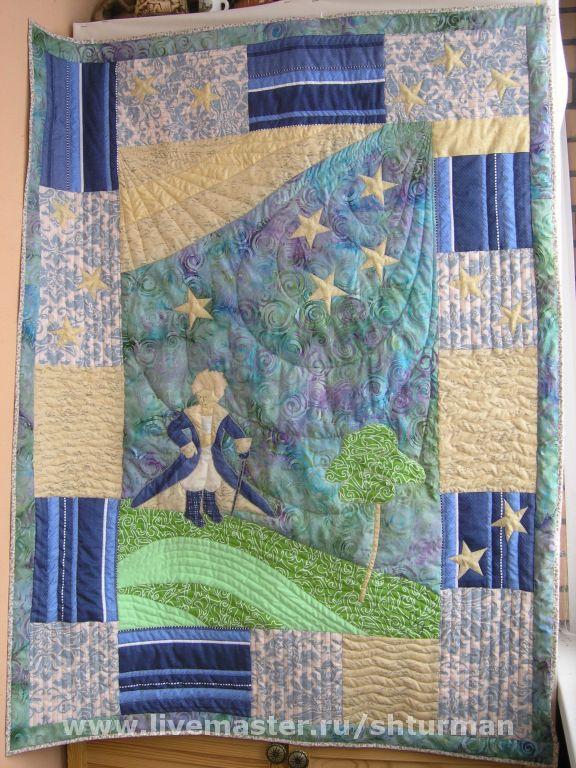 Вариант одеяла из тканей Трехгорки