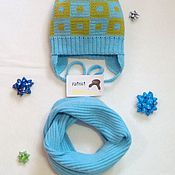 Аксессуары handmade. Livemaster - original item Cap children of half-woolen yarn