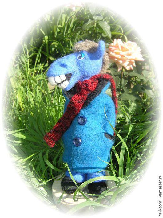 Коллекционные куклы ручной работы. Ярмарка Мастеров - ручная работа. Купить Конь-поэт.(в пальто). Handmade. Валяние сухое