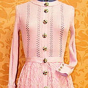 """Одежда ручной работы. Ярмарка Мастеров - ручная работа платье вязаное """"Розовая орхидея"""". Handmade."""
