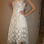 Одежда ручной работы. Ярмарка Мастеров - ручная работа Платье из кружевного полотна. Handmade.