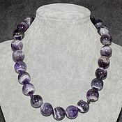 Украшения handmade. Livemaster - original item Natural Amethyst Madagascar Large Beads. Handmade.