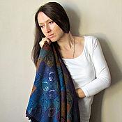 Аксессуары ручной работы. Ярмарка Мастеров - ручная работа Косынка из 100% шерсти , вязаная шаль. Handmade.