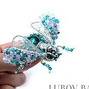 """Украшения ручной работы. Ярмарка Мастеров - ручная работа Брошь-жук """"Delicate emerald"""" с изумрудным кристаллом. Handmade."""
