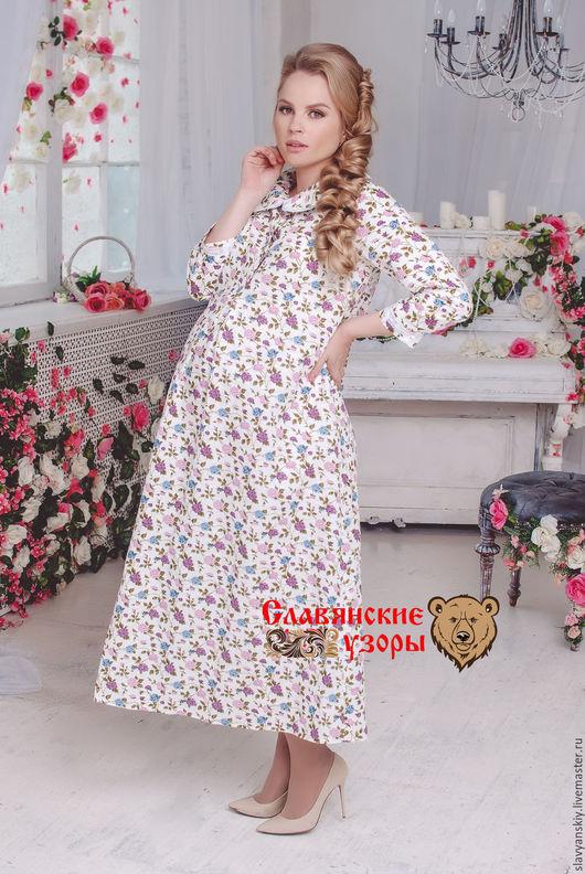 """Платья ручной работы. Ярмарка Мастеров - ручная работа. Купить Платье """"Лаванда"""" отделка кружевом. Handmade. Белый, русская одежда"""