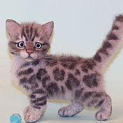Куклы и игрушки handmade. Livemaster - original item Bengal kitten felt
