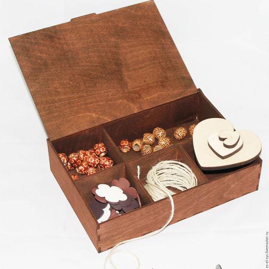 Натуральная, деревянная шкатулка для мелочей