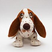Куклы и игрушки ручной работы. Ярмарка Мастеров - ручная работа собака Бассет. Handmade.