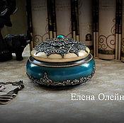 Для дома и интерьера ручной работы. Ярмарка Мастеров - ручная работа шкатулка серебро с бирюзой. Handmade.