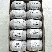 Материалы для творчества ручной работы. Ярмарка Мастеров - ручная работа Пряжа Lang Yarns Angora 0023 silber. Handmade.