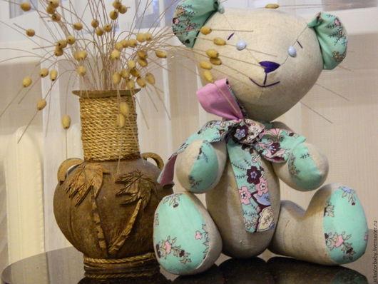 Игрушки животные, ручной работы. Ярмарка Мастеров - ручная работа. Купить Медвежонок Лайм. Handmade. Текстильная игрушка, медвежонок, лён