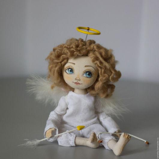 Коллекционные куклы ручной работы. Ярмарка Мастеров - ручная работа. Купить Ангелочек Амур. Handmade. Белый, красивая кукла