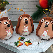 Сувениры и подарки handmade. Livemaster - original item hedgehog ceramic bell.. Handmade.