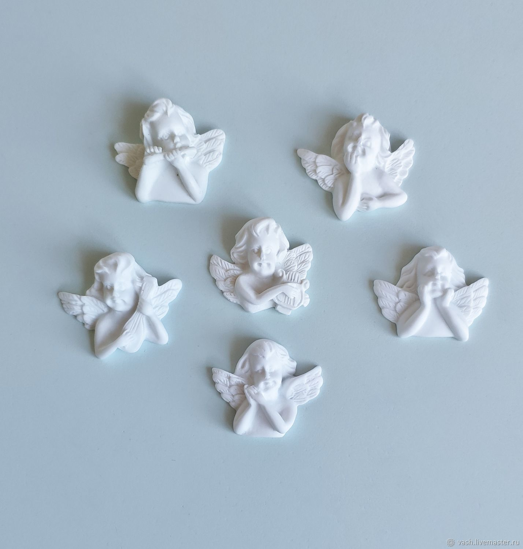 Набор пластиковых фигурок Ангелочки 6 шт, Декор для декупажа и росписи, Москва,  Фото №1