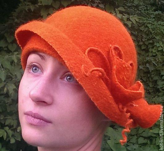 Шляпы ручной работы. Ярмарка Мастеров - ручная работа. Купить Рыжая осень, шляпа валяная. Handmade. Рыжий, шерсть меринос